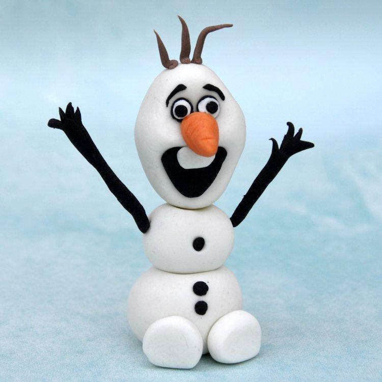 Olaf figura készítése fondantból - Olaf, a hóember lépésről-lépésre útmutató