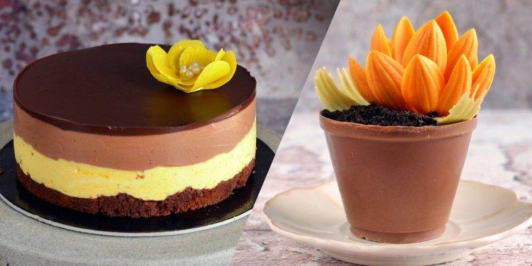 Mangó mousse csoki virágcserépben - recept