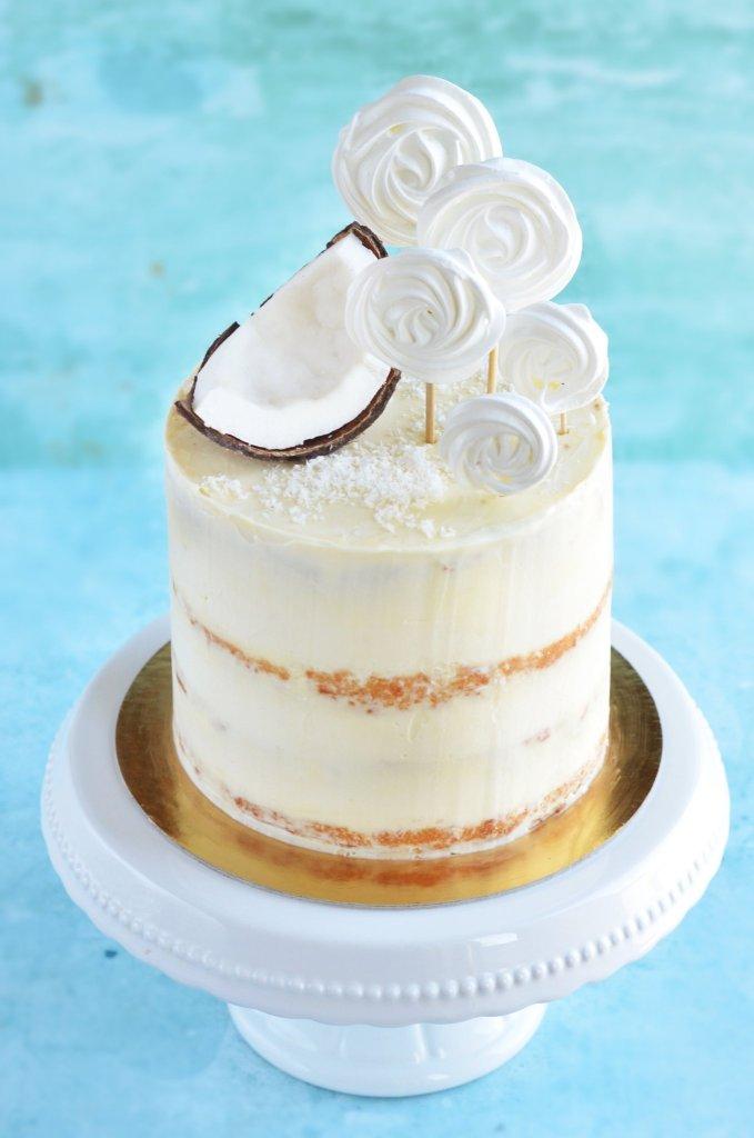 ananászos kókuszos torta recept - habcsóknyalóka készítése - pina colada torta