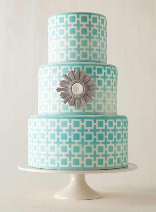 geometrikus mintájú torta