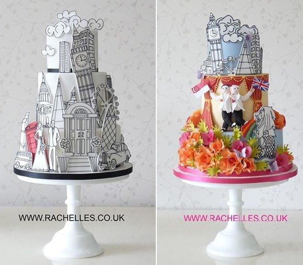 képregény stílusú torták