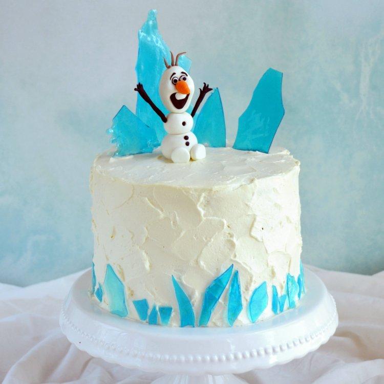 Cukorüveg készítése - jéghegyek Jégvarázs tortára