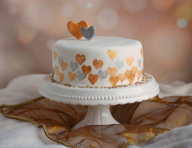 Valentin napi torta - nyomdázás tortára