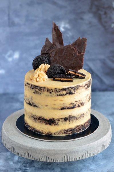 Mogyoróvajas csokitorta recept - pucér torta