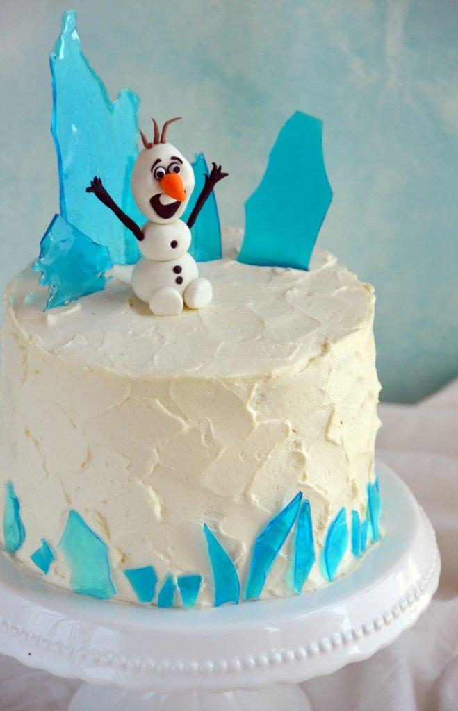 Cukorüveg jéghegy készítése Jégvarázs tortára