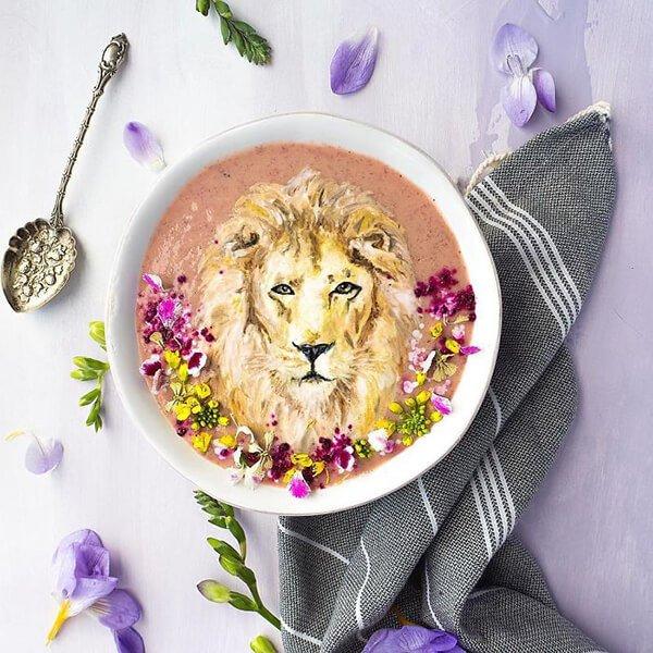 Hazel Zakariya smoothie művész