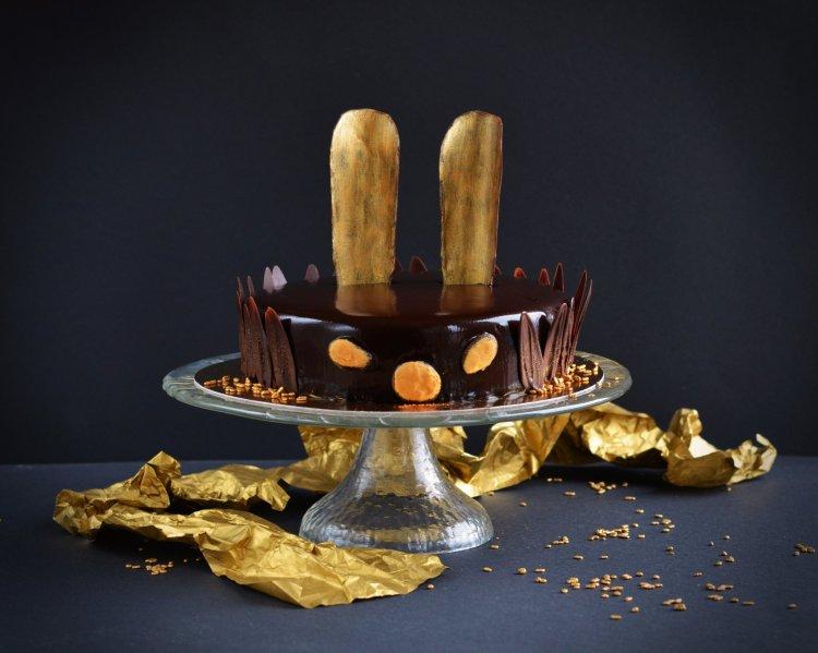 Nyuszi torta készítése - mákos vanília mousse torta recept