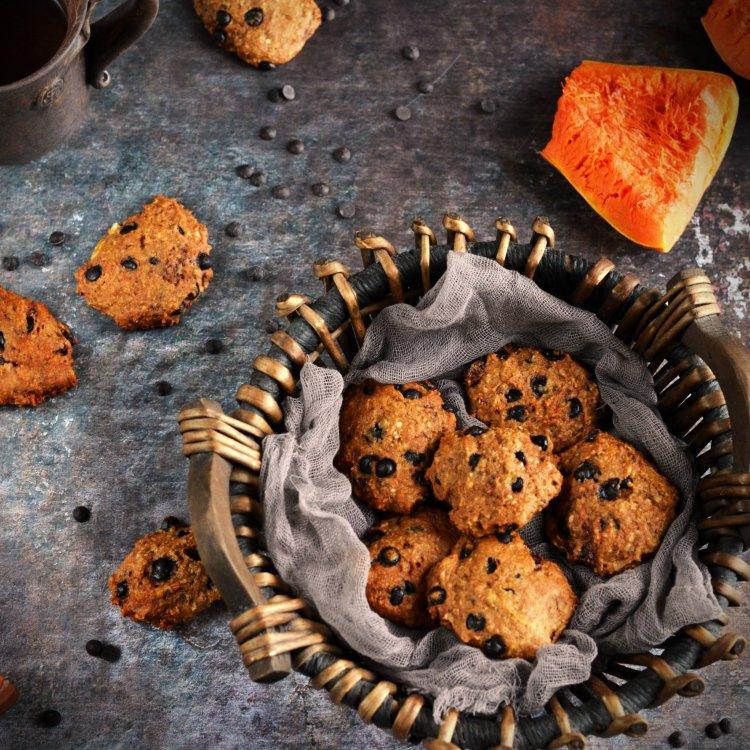 Sütőtökös-csokis puszedli recept - sütőtökös keksz