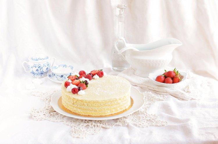 szalalkális krémes torta formában