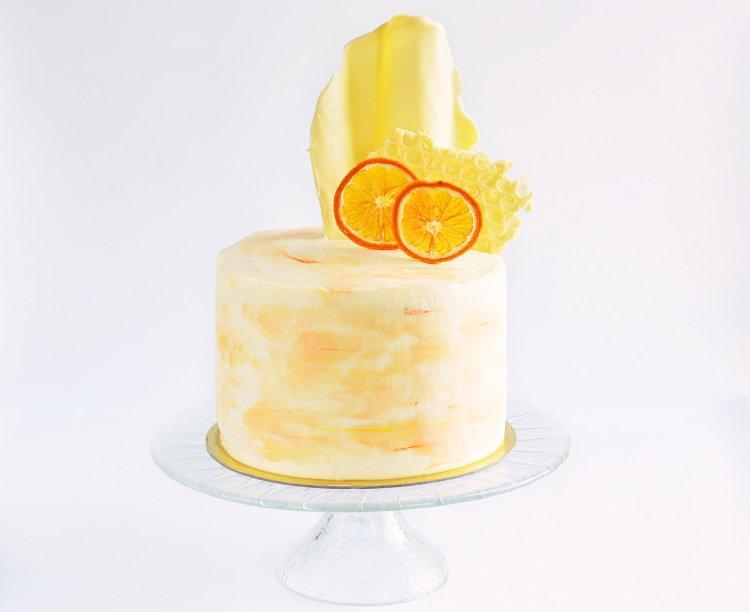 Meggyes-mákkrémes torta recept - vízfesték hatású torta készítése