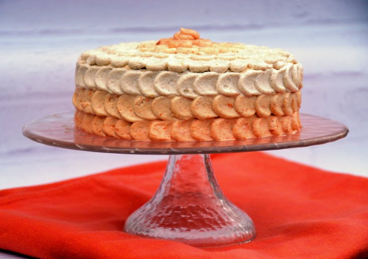 ombre petal cake készítése - sziromtorta