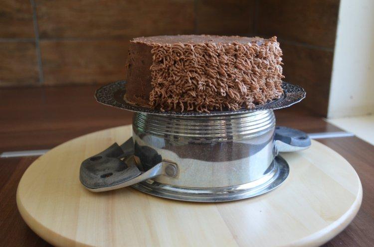 Szőrös minta készítése tortára, habzsákkal