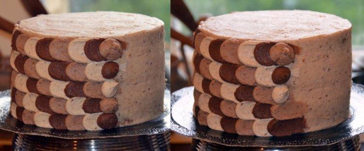 Ombre petal cake készítése habzsákkal - sziromtorta