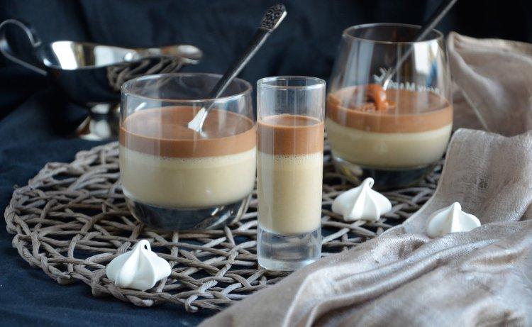 Csokis kávémousse sós karamellel, pohárban