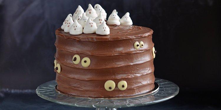 szellem torta - habcsók szellemes halloween torta csoki szemekkel
