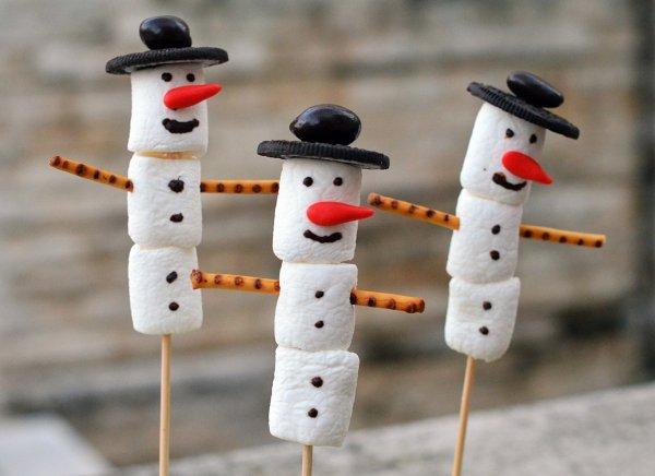 Pillecukor hóember készítése adventra