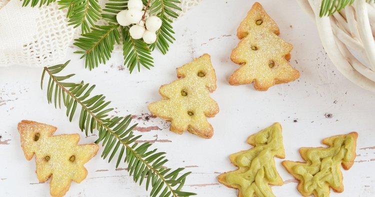 Pisztáciás linzerfenyő recept - pisztáciakrémes karácsonyi linzer készítése
