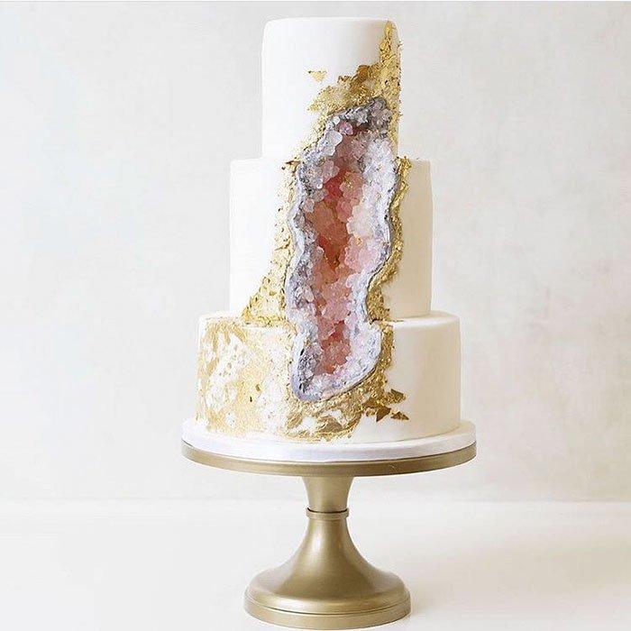 ásvány torta, geode cake