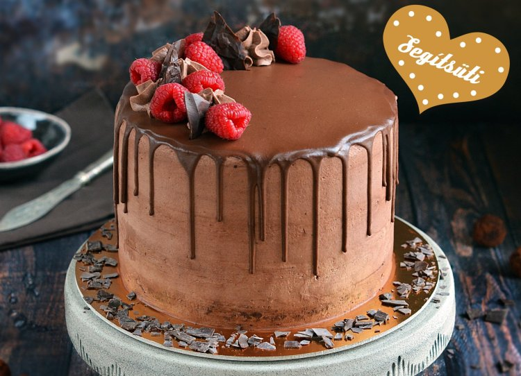 Segítsüti 2019 tavasz - Sweet and Crazy málnás belga csokis torta