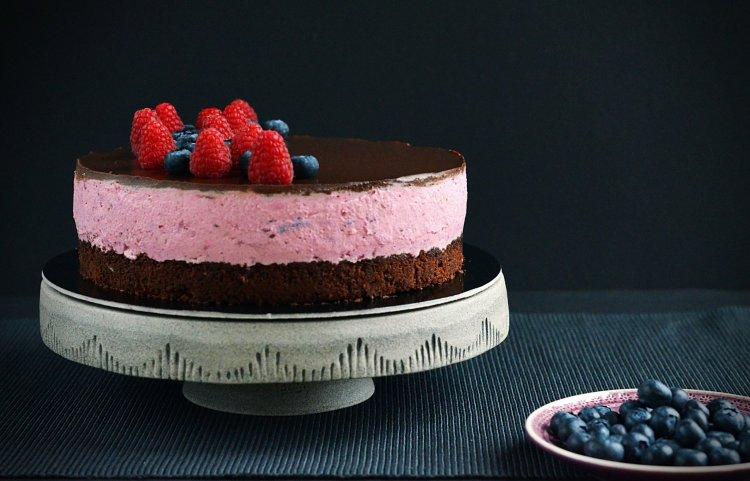 Szedres-málnás túrómousse torta recept cukormentesen, xilittel, eritrittel