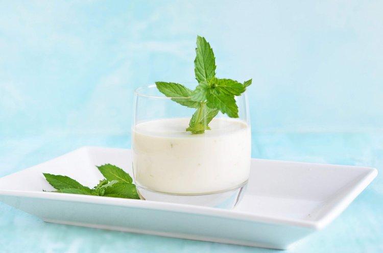 mentás-zöldcitromos mojito panna cotta pohárkrém recept