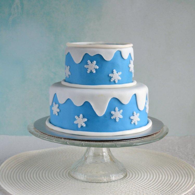 Jégvarázs emeletes torta, Elsa torta ostyaképpel