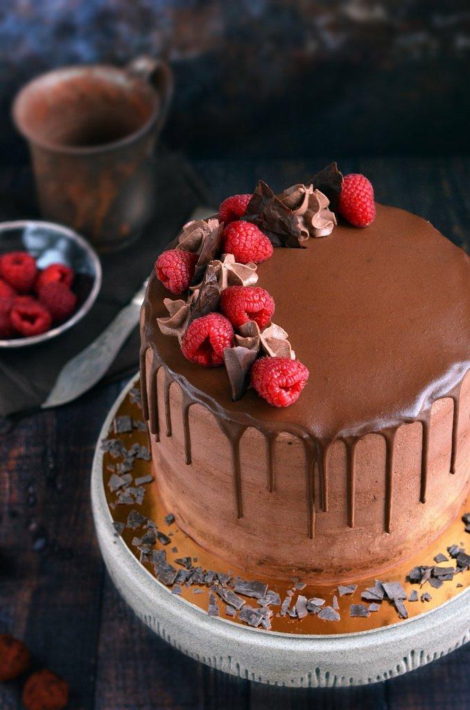 csurgatott csokitorta recept