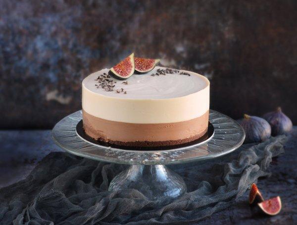 sós karamell-csoki mousse torta recept fügével