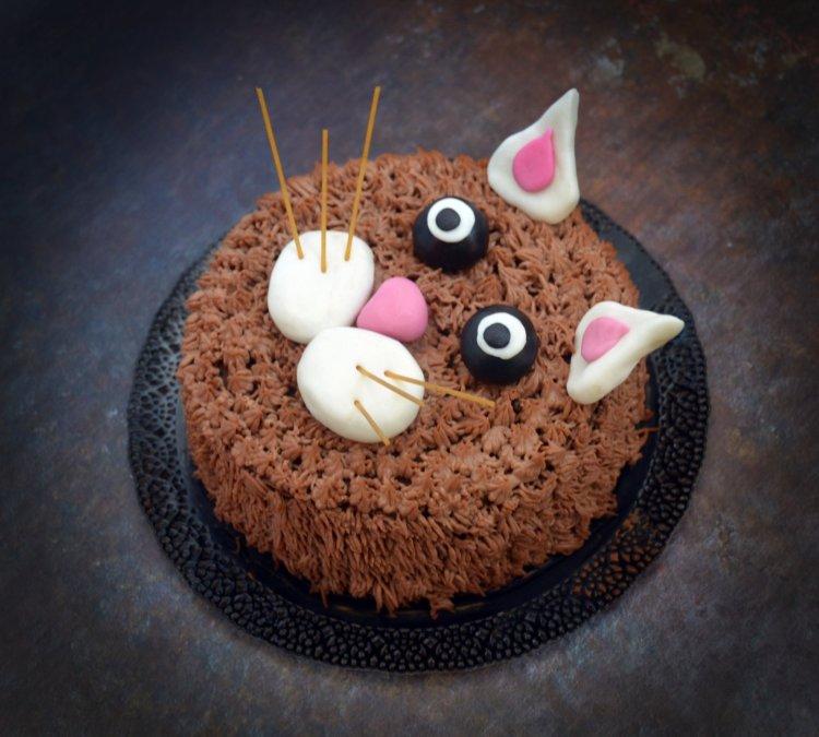 Cica torta - szőrös minta készítése tortára, habzsákkal