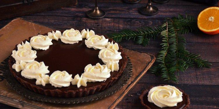 Narancsos csoki mousse pite narancsos mascarponehabbal - karácsonyi tart recept