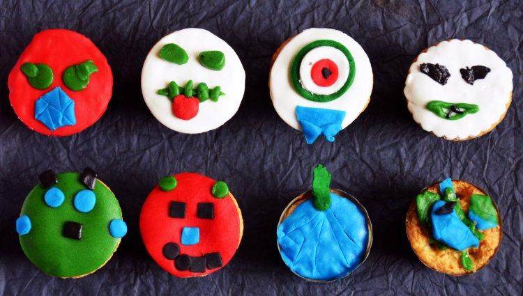 Halloween-i horror muffinok a gyerekek által elkészítve