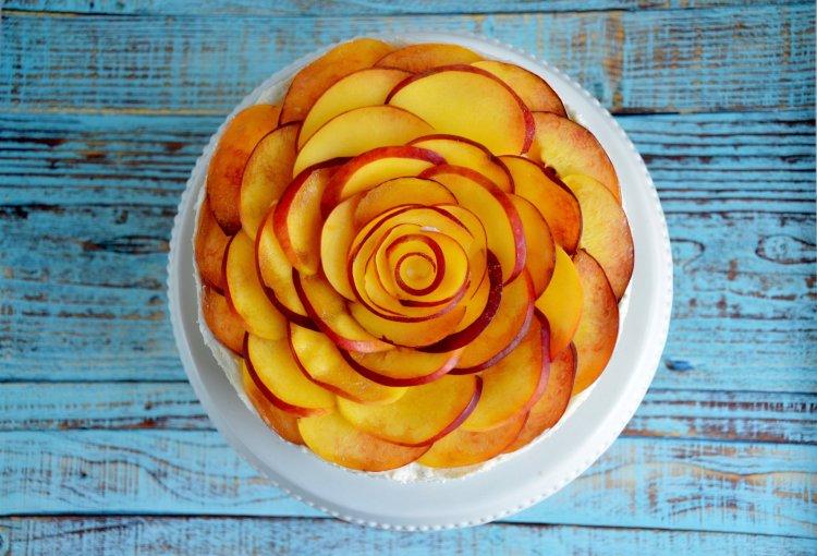 barackos túrótorta recept sütés nélkül - rózsatorta