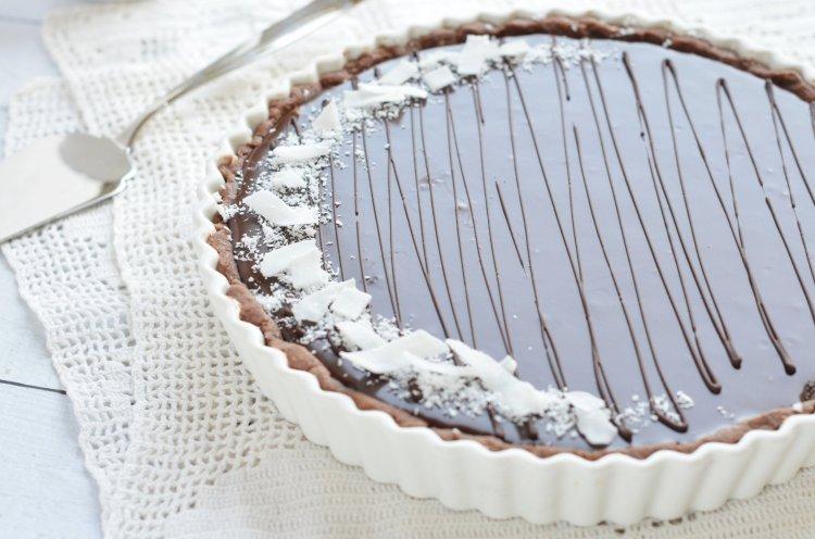 Bounty tart recept - kókuszos-csokis pite készítése
