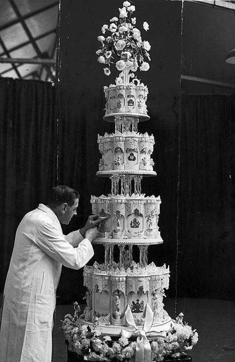 Erzsébet angol királynő esküvői tortája