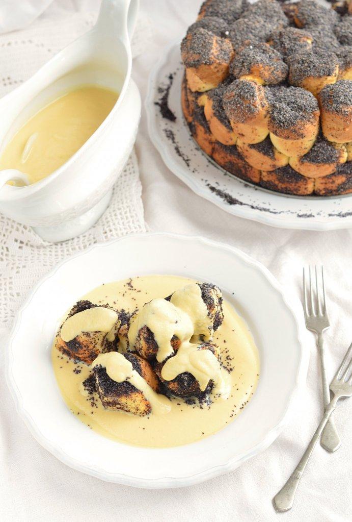 ezüstgaluska recept - mákos aranygaluska vaníliasodóval