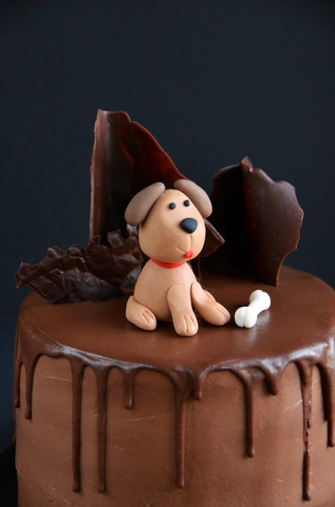 Kutyás torta - fondant kutya készítése