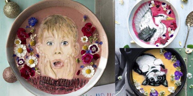 Hazel Zakariya smoothie művész turmix festményei