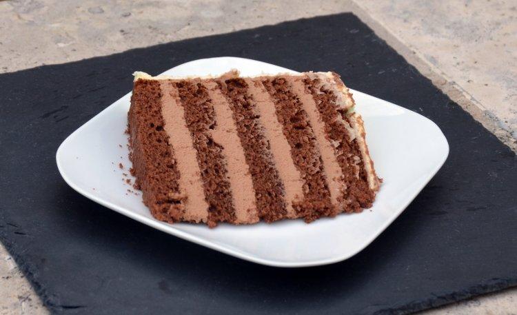 laktózmentes csokitorta recept kihabosított ganache-sal