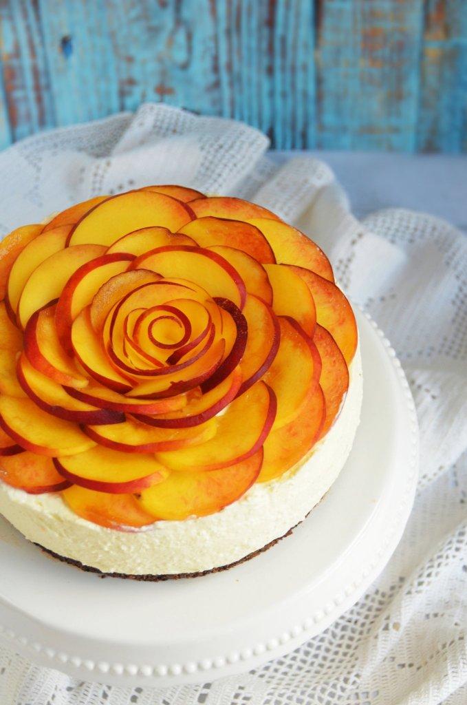 barackos túrótorta sütés nélkül, egyszerűen - rózsatorta