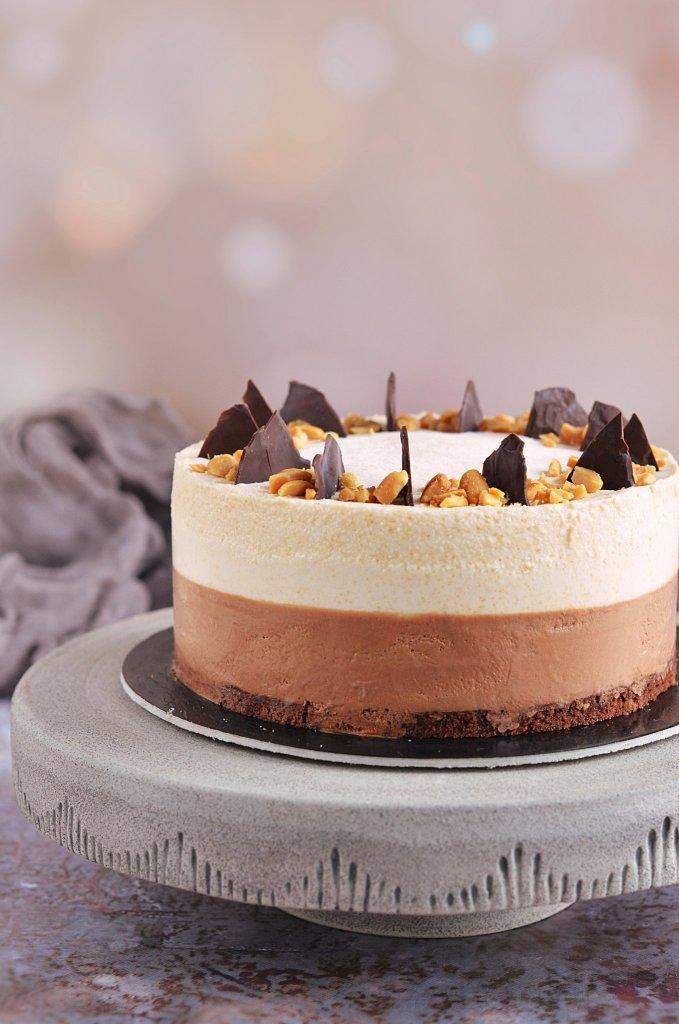 csokis-mogyoróvajas mousse torta recept - sós mogyorós mousse készítése