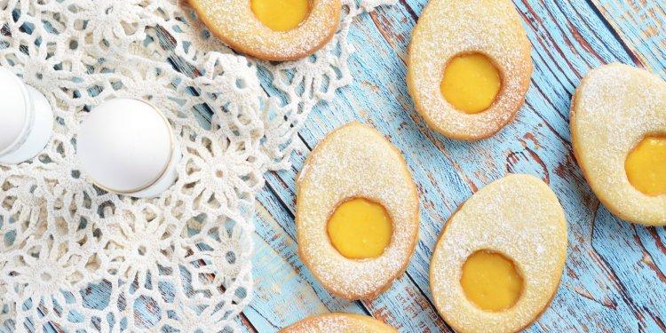 bodzás-citromkrémes tojáslinzer - húsvéti linzertojás recept citrom curd-del