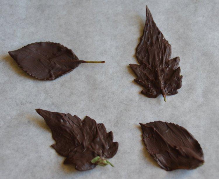 Csokilevél készítése
