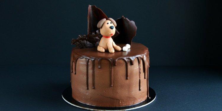 Kutyás torta készítése fondant kutya figurával