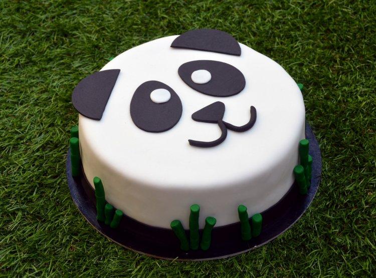 Málnatorta recept - panda torta készítése