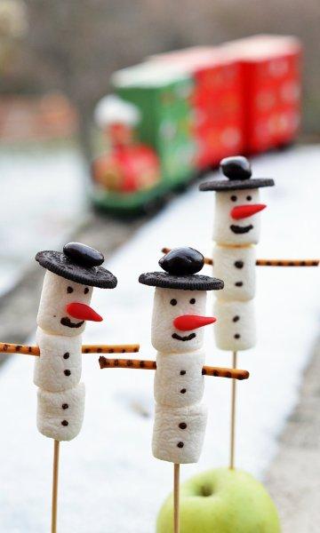 Pillecukor hóember készítése adventra házilag