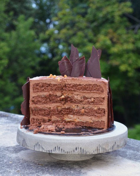 Snickers torta recept házilag - sós karamelles mogyorós csokitorta