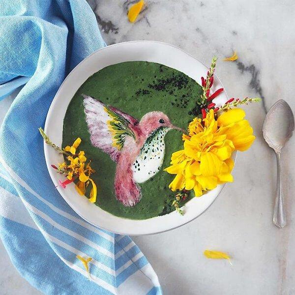 Hazel Zakariya smoothie művész smoothie alkotásai