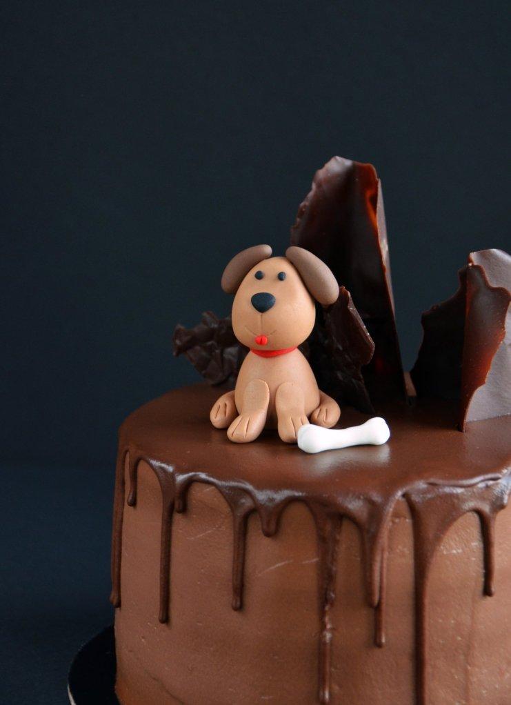 Kutyás torta - fondant kutya készítése egyszerűen