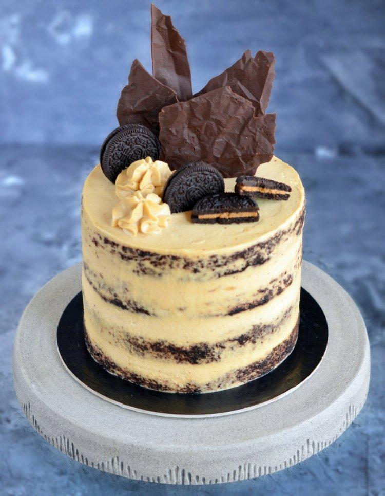 Földimogyorós csokitorta recept - meztelen torta készítése