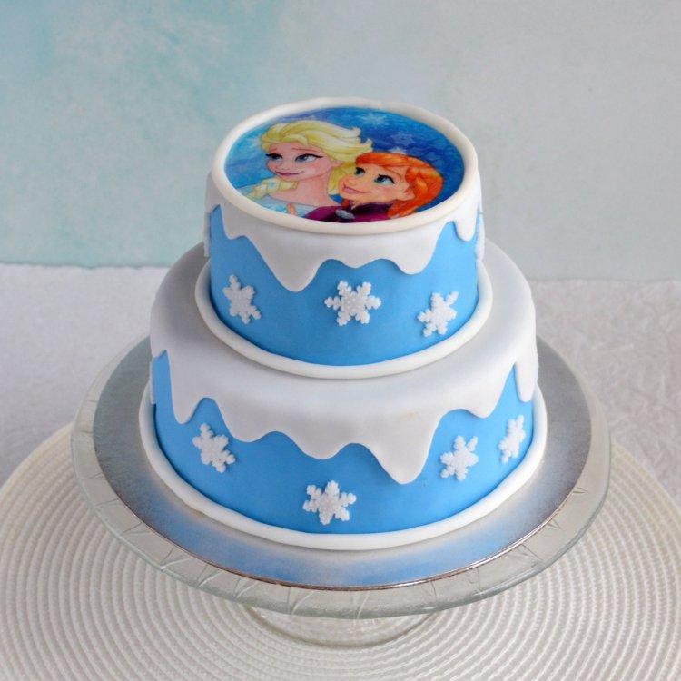 Jégvarázs emeletes torta tortaostyával